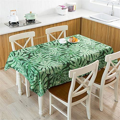 XXDD Mantel de Planta Tropical Mantel Impermeable Mesa de Comedor y Silla Mantel de algodón Cubierta de Mesa de Comedor en casa decoración A5 140x160cm