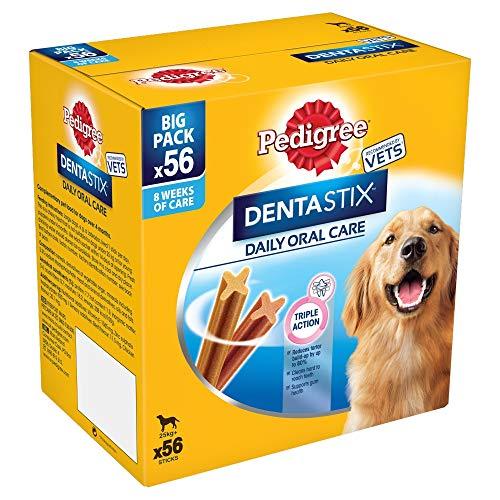 Pedigree Dentastix Diario Oral Cuidado Dental Masticables, GRANDE PERRO 56 palitos, pack de 1