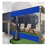 YJSMB Exterior Cortina, Tarea Pesada Lona Robusto Hojas Resistente Al Desgarro Impermeable Paneles Laterales por Kiosko Terraza (tamaño Personalizado) (Color : Blue, Size : 6x3m/19.7x9.8ft)