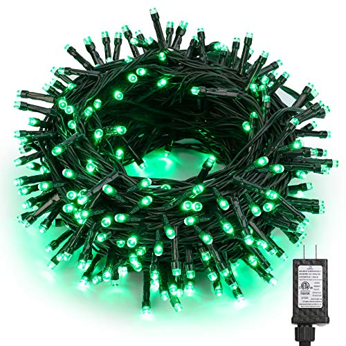 Brizled St Patricks Day Lights, 78.74ft 240 Green Lights String, Plug-in LED Christmas Lights Outdoor Connectable, 8 Modes Mini String Lights Waterproof for Outside Indoor Xmas Tree Party Decorations