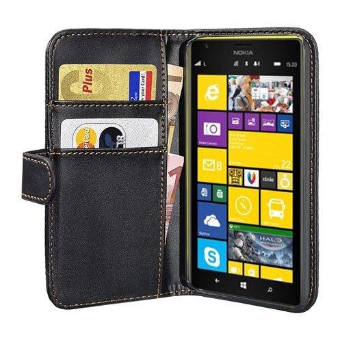 PEDEA Bookstyle Hülle für Nokia Lumia 1520 Tasche, schwarz