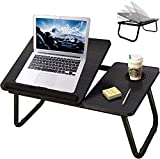 Lap Desk with Cup Holder,Bed Desk for Laptop,Table Tray for Bed,Adjustable Computer Stands with Cup Slot for Writing,Portable Fits up to 17 inches Notebook for Eating Watching Movie on Bed Couch Sofa