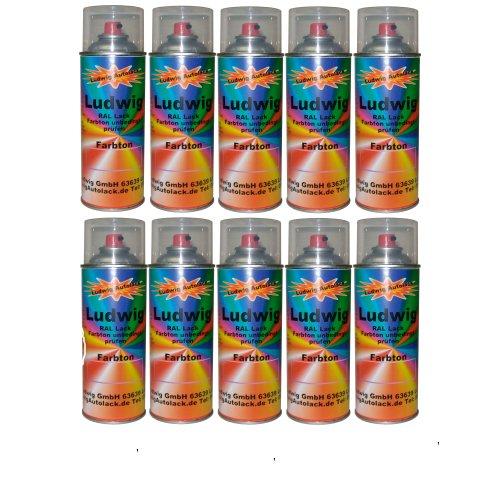 Ludwig Lacke 10 Spraydosen 400ml Autolack glänzend RAL 5002 Ultramarinblau