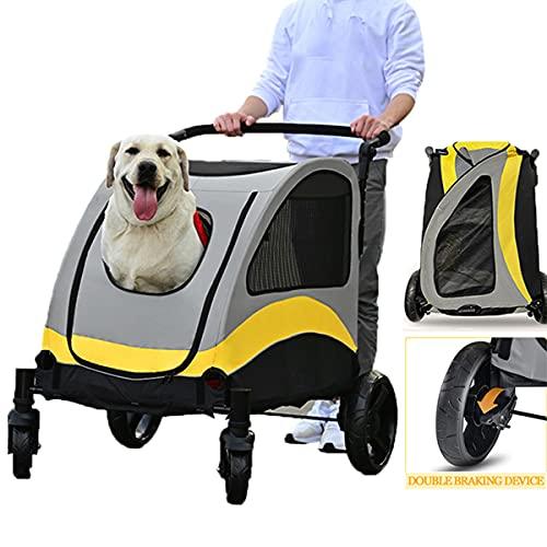 Hundewagen Pet Tragfähigkeit: 60kg Wagen fuir Hunde Faltbar Stroller Hundebuggy Regenschutz zum Schieben Roadster