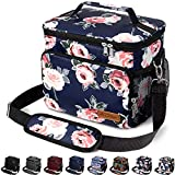 Insulated Lunch Bag for Women/Men - Reusable Lunch Box for Office Work School Picnic Beach - Leakproof Cooler Tote Bag Freezable Lunch Bag with Adjustable Shoulder Strap for Kids/Adult - Romantic