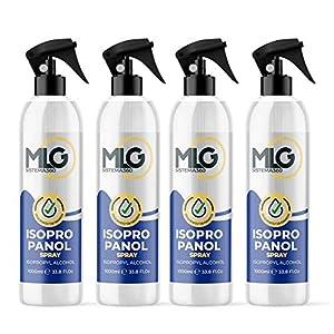 Pack 4 x Isopropílico 99,9% 1000ml con Spray   Alcohol IPA de Limpieza   Ideal para limpieza de componentes electrónicos 1 Litro