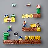 Klycbds 3D DIY Super Marios Bros Figuras De Juguete De Acción Modelo Imanes De Nevera Niños Juguete ...