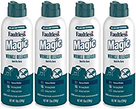 Magic Wrinkle Releaser (4 Pack) Say No to Ironing, Perfect for Travelers, Moms or those On The Go, Static Electricity Remover + Fabric Refresher + Odor Eliminator + Wrinkle Remover, Fresh Scent