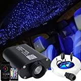 AZIMOM LED Bluetooth 16W RGBW Fiber Optic Light Star Ceiling Lighting Kits Music Mode 550pcs 0.03in 13.1ft Fibers Cables APP Remote Control For Car Home Headliner Light Decoration