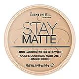 Rimmel London Stay Matte Pressed Powder, Mineral Formula for Long-lasting Shine Effect, Sandstorm, 14 g