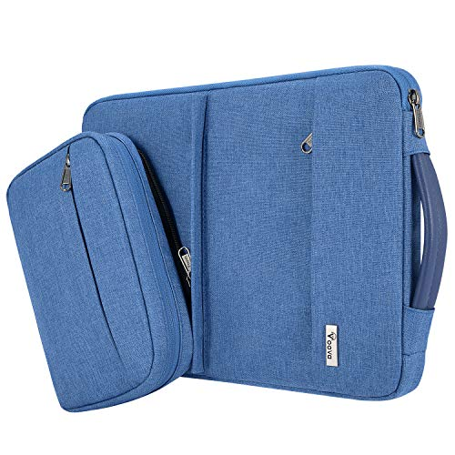 Voova 13.3 Inch Laptop Sleeve Case Compatible with 13' MacBook Air/MacBook Pro, 13.5 Surface Book 2 / Laptop 3 2,13 XPS/Chromebook Notebook Protective Carry Bag with 2 Pockets, Waterproof, Light Blue