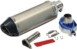 /51/mm Tubo di scarico marmitta scooter moto ATV Dirt Pit Bike Un Xin esagonale in acciaio INOX universale 38/