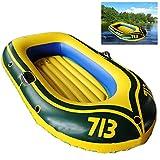 Barca Hinchable Seahawk Portátil Bote Inflable Kayak Hinchable Explorer PVC Duradero Balsa para Rafting Gran Opción para Los Amantes de La Pesca o Los Deportes Al Aire Libre