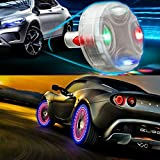 ByLucky - 4pcs Automobile tire lamp,Solar Wheel hub lamp; Waterproof Decorative LED Flash! Suitable for Motion Sensor of Automobile,Motorcycles Bicycles Wheel lamp,Etces.