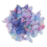 SUPVOX 20 piezas con mariposas Mariposa colorida Mariposa Tela decorativa Accesorios de bricolaje Apliques Ropa Costura Decoración) 3cm)