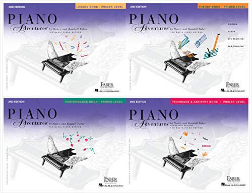 NEW Faber Piano Adventures Primer Level (4 Books) - Lesson, Theory, Technique & Artistry, Performance