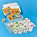BIC Kids My Pirate: Ceras y Lápices de Colores, Juegos de Papel, Adhesivos, Mapa del Tesoro - Caja de47