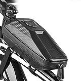 MeiDao Sacoche de vélo Eva étanche avec barre avant Charter Car - Poche supérieure pour tuyau - Sac de VTT (noir)