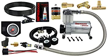 airmaxxx Air Compressor & Black Air Gauge Kit for Over Load Tow Control or Train Horn