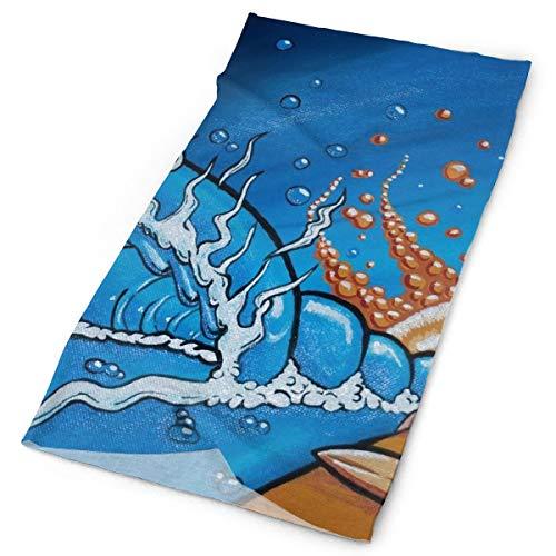 Pengyong Sunset Surfer Art Unisex moda secado rápido microfibra tocado al aire libre mágica bufanda cuello bufanda bufanda con capucha super suave mango