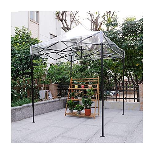 Carpa con Dosel Transparente, 95% de protección UV, sombrilla Exterior Impermeable, para toldo, Patio, pérgola, Cubierta para Muebles de jardín, 6 tamaños (Color: Transparente, Tamaño: 3x3m)