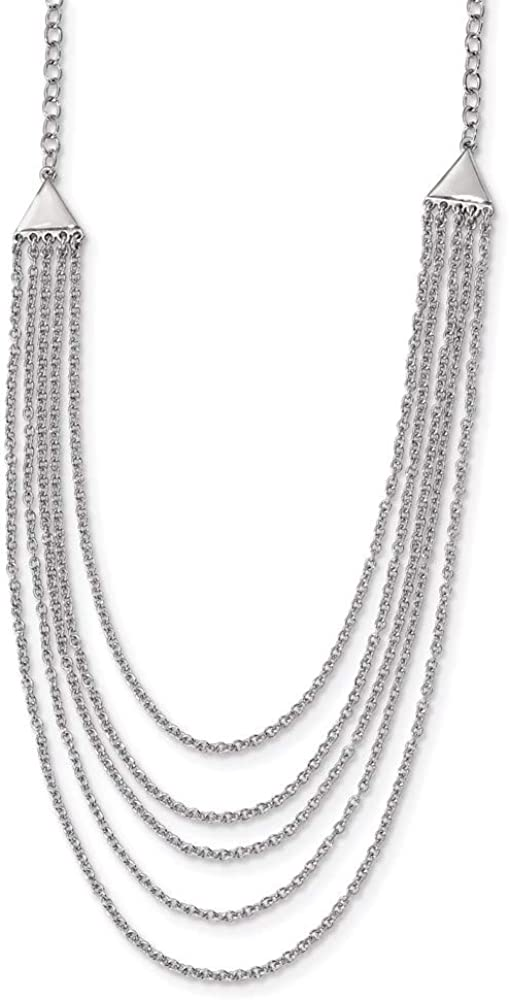 Ryan Jonathan Fine Jewelry Large discharge sale Sales Necklace Sterling Multi-Strand Silver