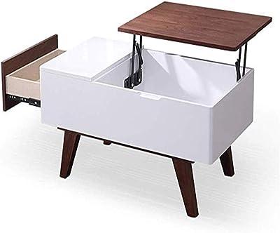 持ち上がる木製のコーヒーテーブルモダンなミニマリストスタイルのリビングルーム多機能収納テーブル長方形