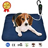 RIOGOO Pet Heating Pad, Electric Heating Pad for Dogs and Cats Indoor Warming Mat with Auto Power Off (M:18' x 18')