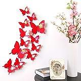 PVC 3D Multi Color Mariposa Forma Pegatinas de Pared DIY para la decoración del hogar TV Fondo niños Dormitorio Tatuajes de Pared 12 unids/Set