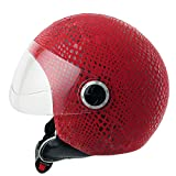 Funda Casco Jet Moto Snake Red