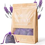 Yoken Natural Lavender Sachets Scented Sachets for Drawers and Closet, 16 Pack Sachet Packets for...