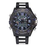 Reloj Deportivo Digital Reloj Militar para Hombre Hombre Reloj Deportivo, Resistente al Agua Digital Militares Relojes para Uso al Aire Libre o al Hacer Ejercicio, LED y Alarma con Cronómetro Cuent