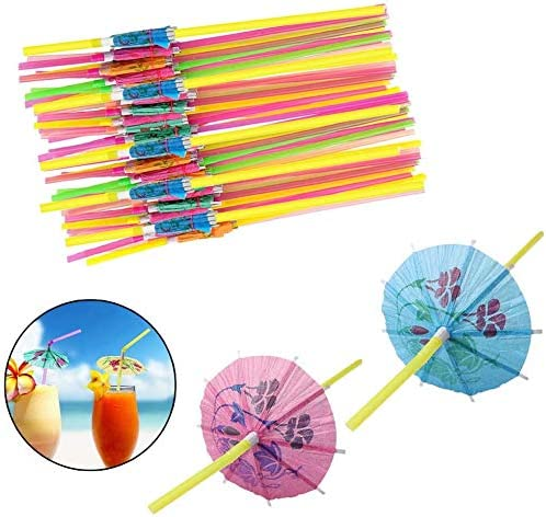 BruPart Drinking Straws for Party Supplies Birthday Wedding Bridal Baby Shower Decorations and product image
