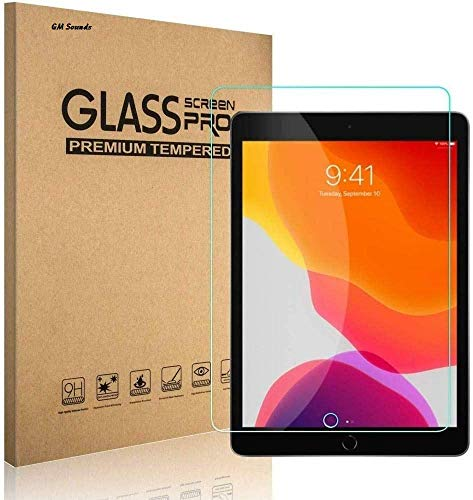 GM SOUNDS Screen Protector for iPad 8/7 (10.2-Inch, 2020/2019, 8th / 7th Generation), iPad Air 3 (10.2-Inch, 2019) and iPad Pro 10.5 (2017), Tempered Glass Film
