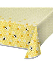 Creative Converting Bumblebee Baby Plastic Table Cover, Multicolour