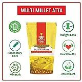 Nutty Yogi Gluten Free Multi Grain Flour Millet Atta, Vegan, Roti Flour Mix - 1 kilo (2.20 lbs)