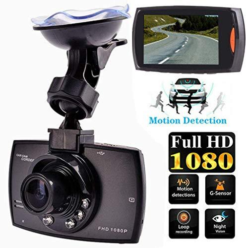 1080P Full HD DVR Dashcam, Fahrschreiber Fahrzeug Camera Car Dvr Camera Fahrzeugkamera with 170° Wide Angle, Night Vision, G-Sensor, WDR, Loop Recording, Parking Monitoring and Motion Detection