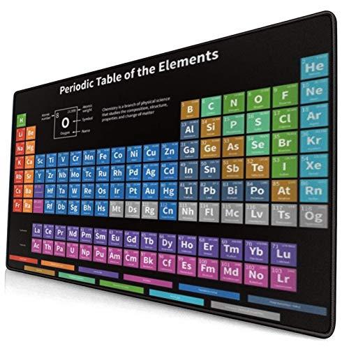 HUAYEXI Alfombrilla Gaming,Tabla periódica de Elementos Ciencia Colorida Tecnología Niños Estudiante de la Escuela química,con Base de Goma Antideslizante,750×400×3mm