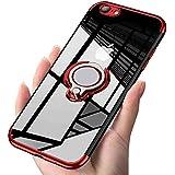 iPhone6S plus / iPhone6 plus ケースリング クリア透明 耐衝撃 全面保護 磁気カーマウントホルダー スタンド 柔らかい殻 ケース 車載ホルダー対応 薄型 軽量 TPU 滑り防止 黄変防止