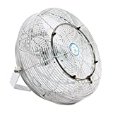 High Velocity Outdoor Mist Fan - For Patio Cooling, Restaurant Misting, Industrial Cooling - Rated for Indoor and Outdoor Applications - 3 Speed Fan, 18 Inch, White, 12-4 Ring