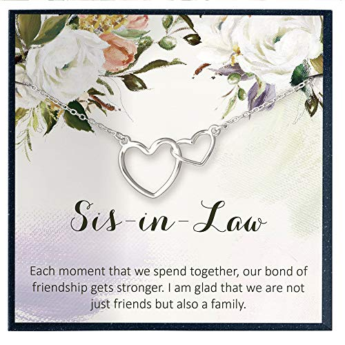 Gifts for Sister in Law Gifts from Sister in Law Jewelry Gifts Not Just a Friend But Also a Family Quote Necklace for Sister in Law Necklace Gifts