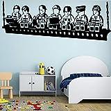 Hermosa muñeca decoración Familiar habitación para niños decoración del hogar Impermeable Etiqueta de la pared146X116cm