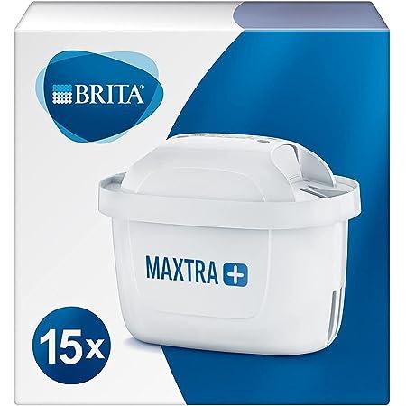 BRITA Maxtra Lot de 15 cartouches filtrantes de rechange compatibles avec toutes les carafes Brita - Réduit le chlore, le calcaire et les impuretés pour un excellent goût