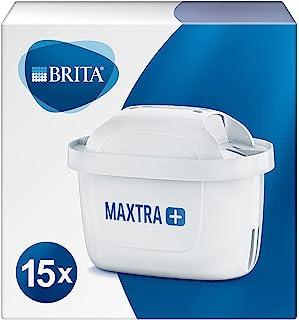 BRITA Maxtra Lot de 15 cartouches filtrantes de rechange compatibles avec toutes les carafes Brita - Réduit le chlore, le ...