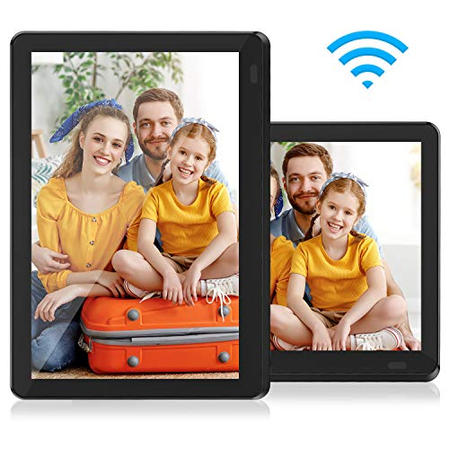 Atatat WiFi Digital Picture Frame 10 Inch with FHD 1920x1080 IPS Touch Screen, Auto-Rotate, Share Photos via Email, App, Portrait or Landscape