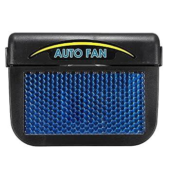 DEALPEAK Solar Power Car Air Vent Cooling Fan Window Fan Auto Ventilator Cooler Air Vehicle Radiator Vent with Rubber Stripping