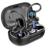Cuffie Bluetooth Sports, Auricolari Bluetooth 5.0 Senza Fili, in Ear Impermeabile Hi-Fi Stereo con Microfono, 100H Riproduzione Auricolari Wireless con Display LED per in Correre Workout, Gym