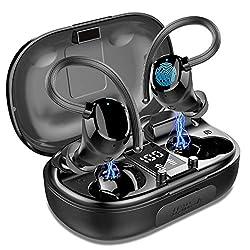 stéréo et haute qualité audio: écouteurs sans fil adoptent la version bluetooth 5.0 pour garantir une connexion plus stable. la technologie de réduction du bruit vous offre une expérience d'écoute non compressée. des haut parleurs intégrés hautes per...