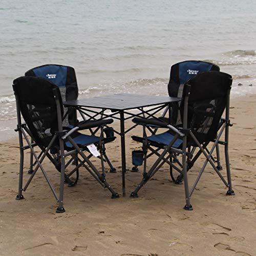 MXueei Mesa y sillas Plegables para Exteriores Juego de Mesa y sillas Plegables para Exteriores Juego de Mesa y sillas para Exteriores de Playa y Ocio