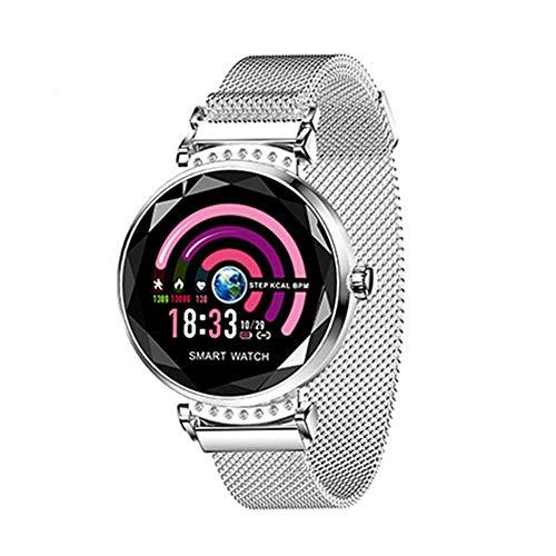 AGKupel Smart Armband für Damen H2 Fitness Tracker Armband mit Pulsmesser Smartwatch Blutdruck Herzfrequenz Schlafmonitor Schrittzähler Wasserdichte IP67 Farbbildschirm für Frauen Android iOS (Silber)